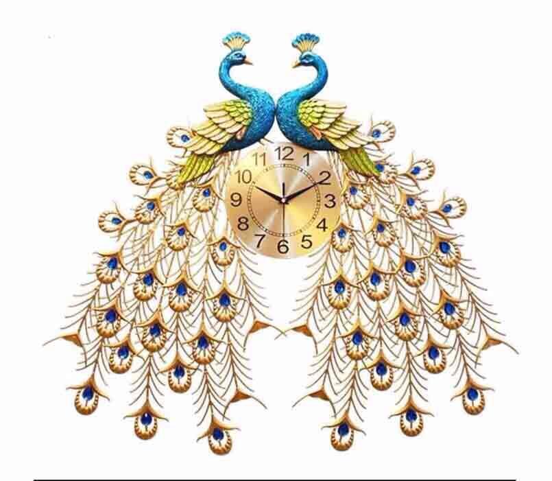 Đồng hồ treo tường nghệ thuật chim công